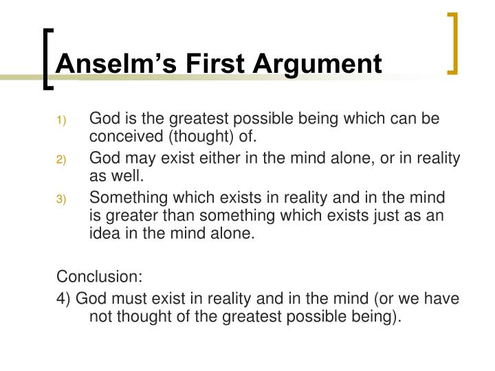 ontological argument essay conclusion
