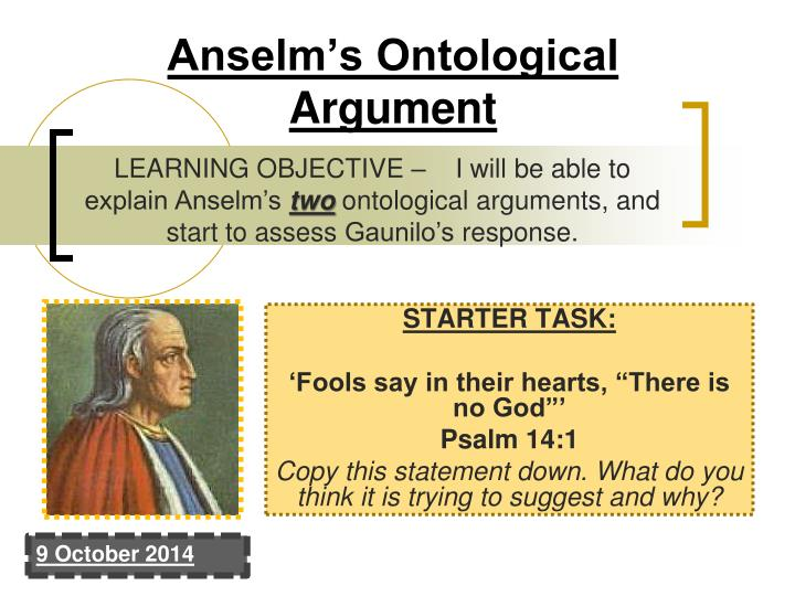 gaunilo in behalf of the fool summary Summary in behalf of the fool by gaunilon, st anselm discusses a  counterargument offered by his contemporary, gaunilon, a benedictine monk  who.