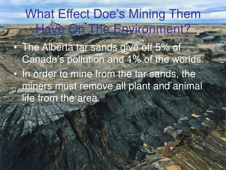 What Effect Doe's Mining Them Have On The Environment?
