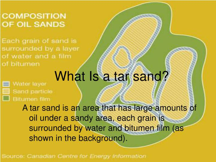 What is a tar sand