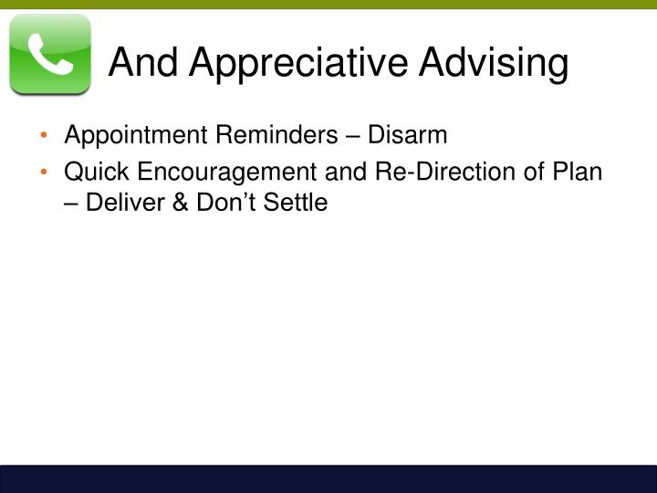 And Appreciative Advising