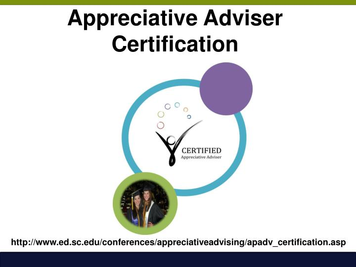 Appreciative Adviser Certification