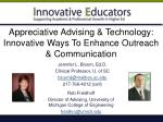 appreciative advising technology innovative ways to enhance outreach communication