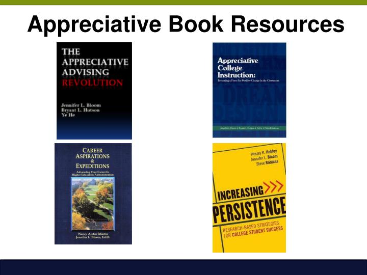 Appreciative Book Resources