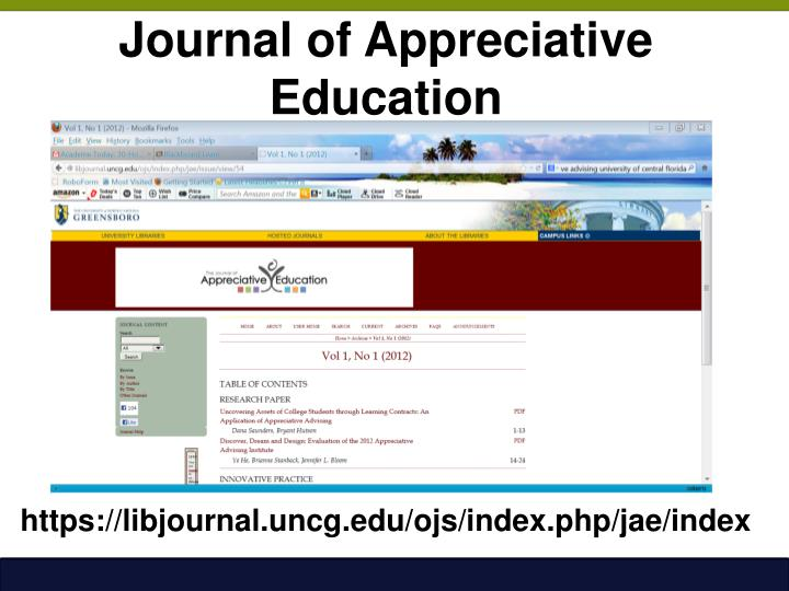 Journal of Appreciative Education