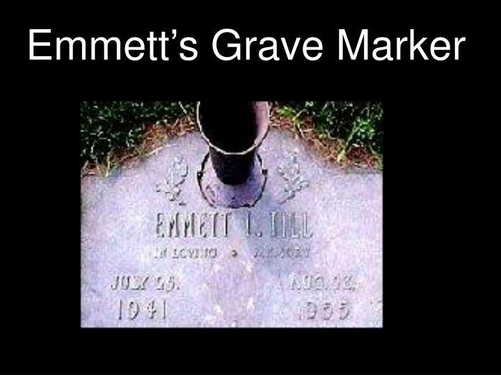 Emmett's Grave Marker
