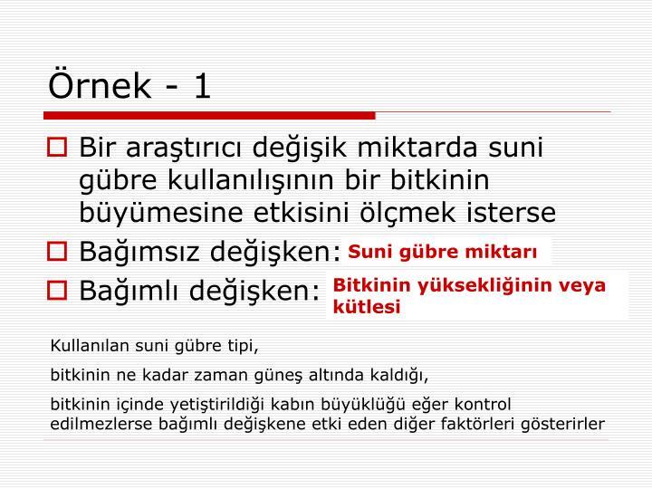 rnek - 1