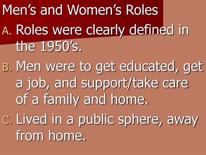 Men's and Women's Roles
