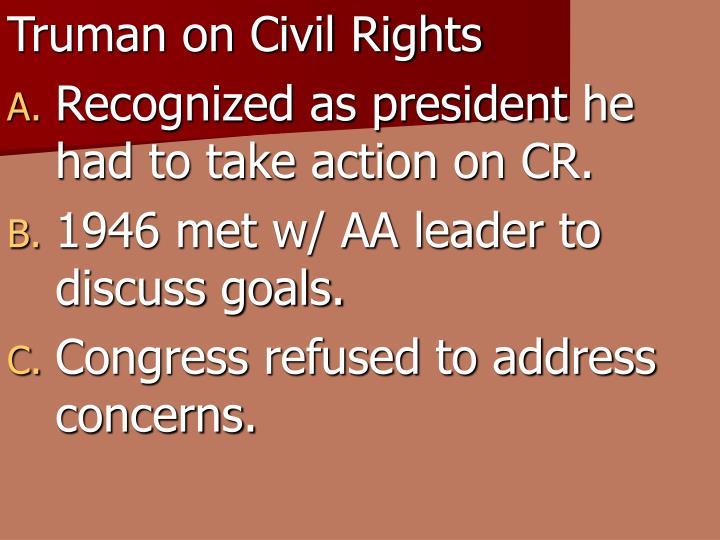 Truman on Civil Rights
