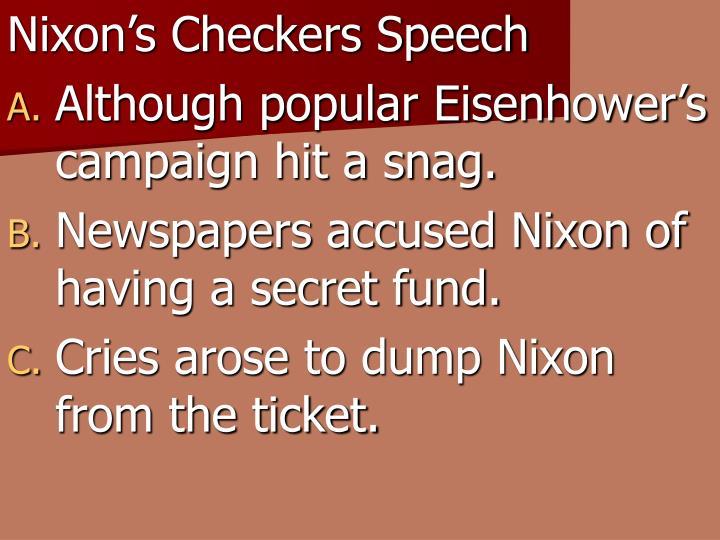 Nixon's Checkers Speech