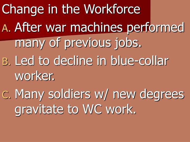 Change in the Workforce