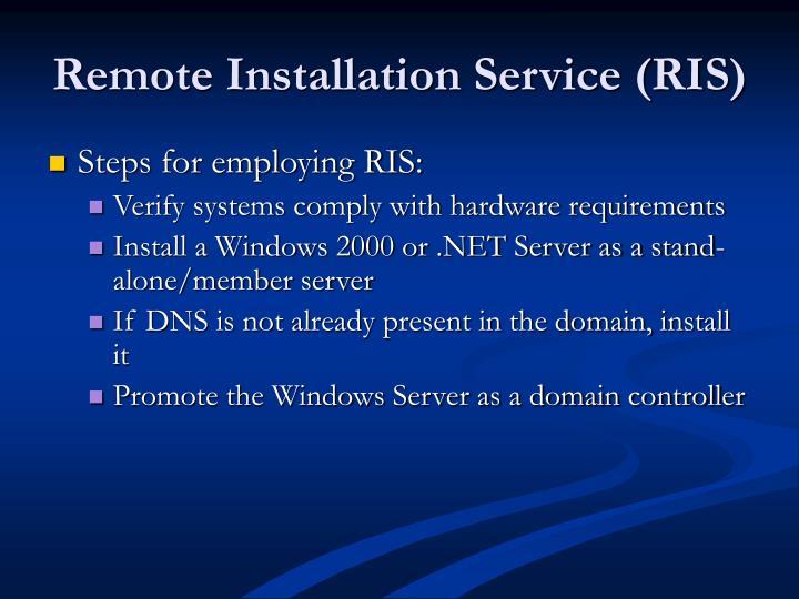 Remote Installation Service (RIS)