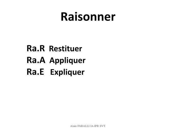 Raisonner