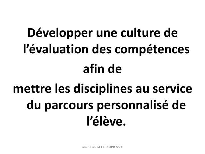 Développer une culture de l'évaluation des compétences