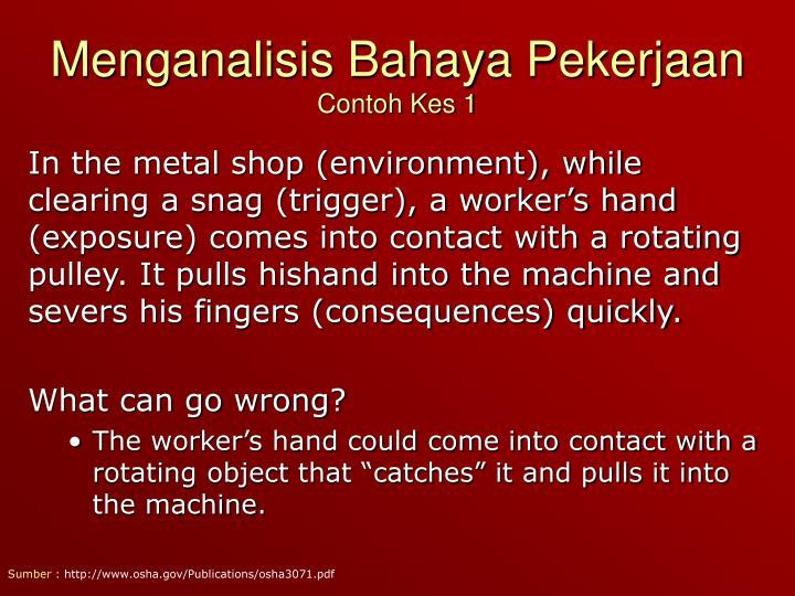 Menganalisis Bahaya Pekerjaan