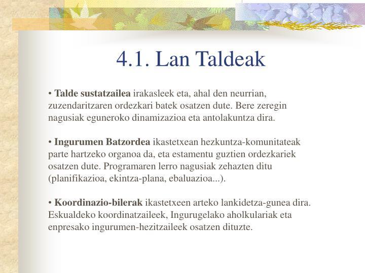4.1. Lan Taldeak
