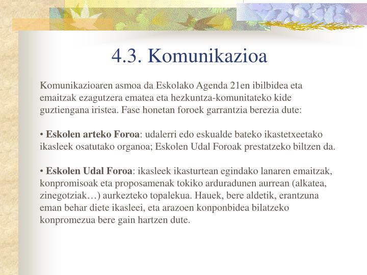 4.3. Komunikazioa