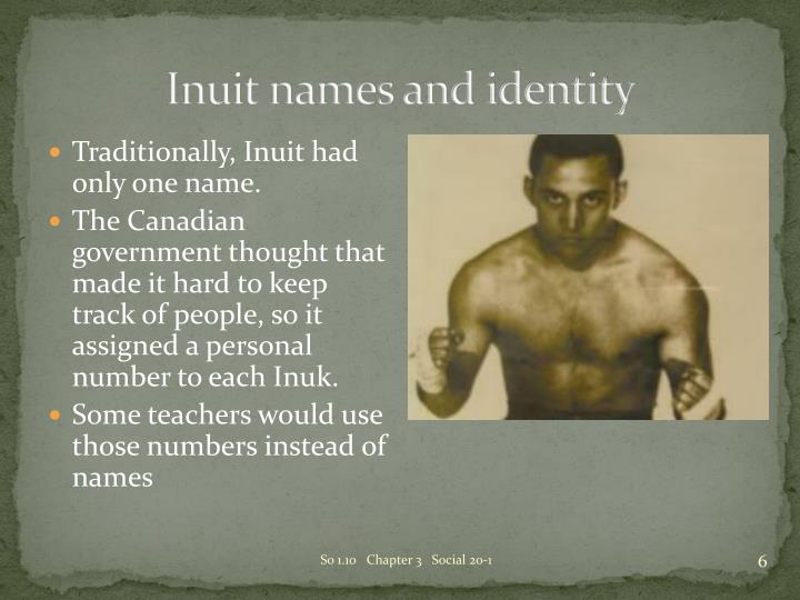 Inuit names and identity