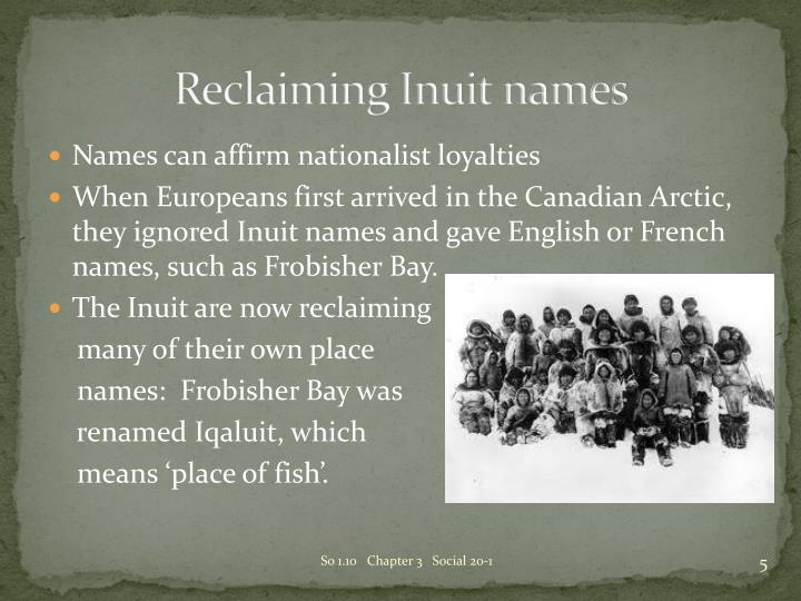 Reclaiming Inuit names