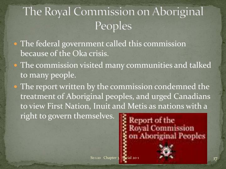 The Royal Commission on Aboriginal Peoples