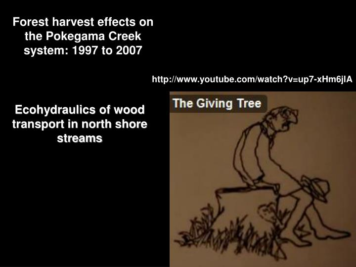 Forest harvest effects on the Pokegama Creek system: 1997 to 2007