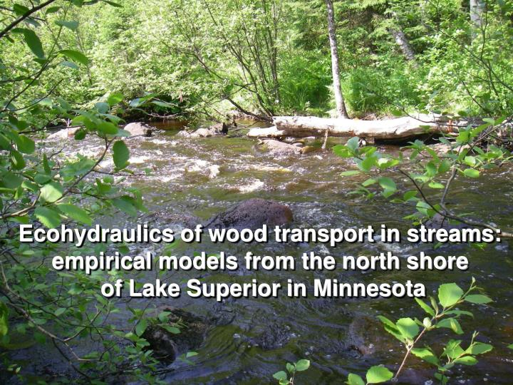 Ecohydraulics of wood transport in streams: