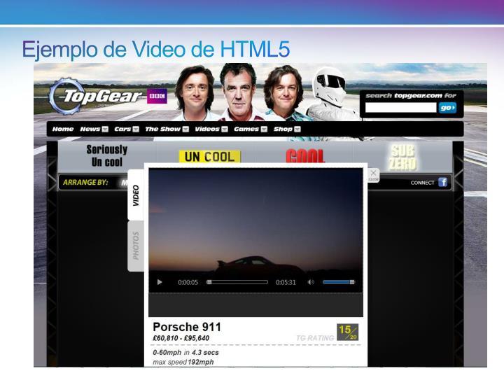 Ejemplo de Video de HTML5
