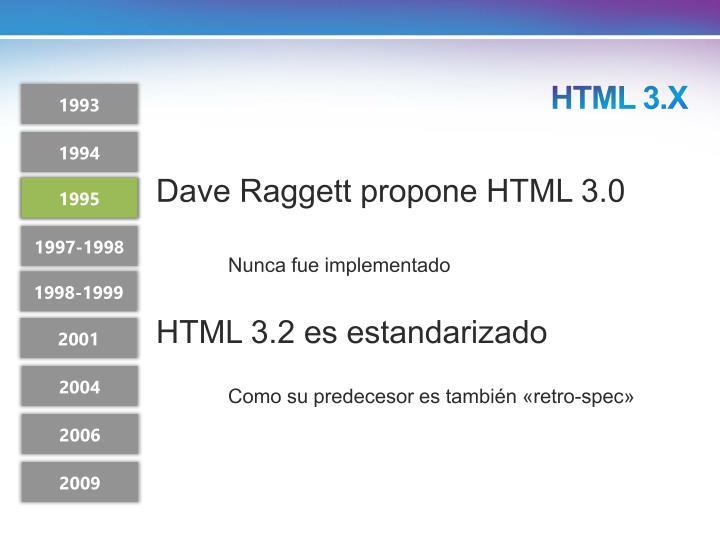 HTML 3.X