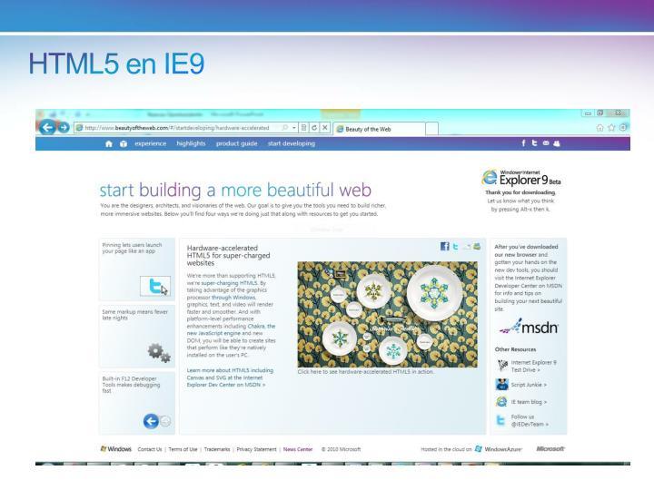 HTML5 en IE9