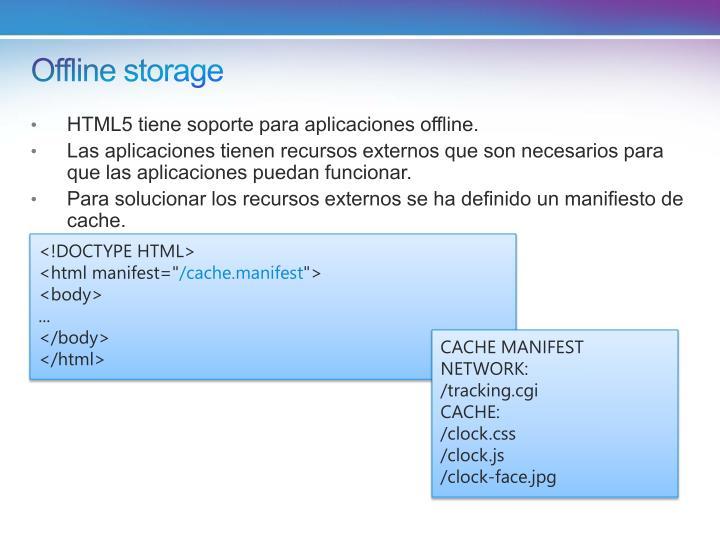 Offline storage