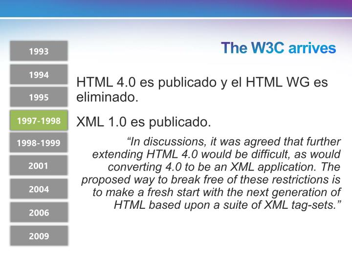 The W3C arrives