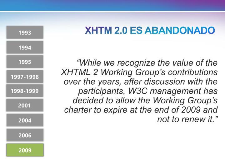 XHTM 2.0 ES ABANDONADO