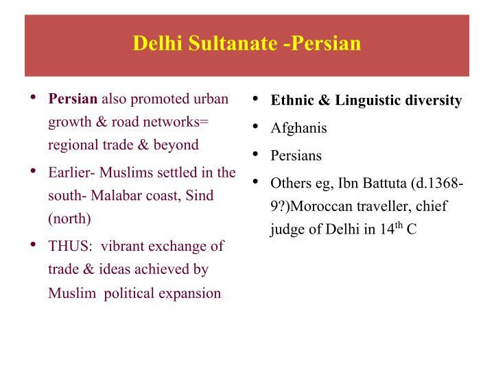 Delhi Sultanate -Persian