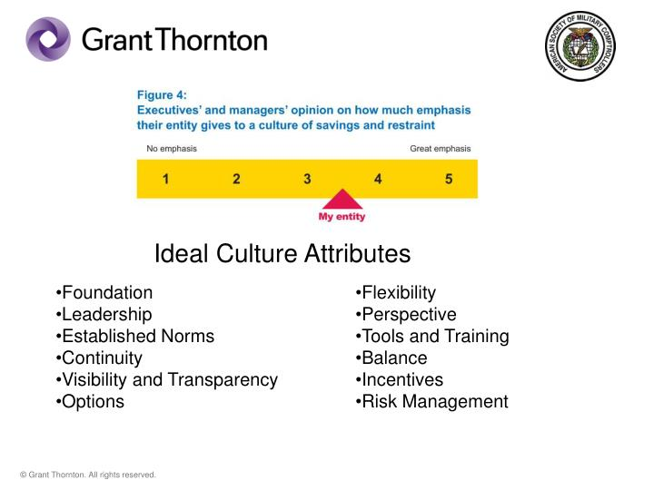 Ideal Culture Attributes