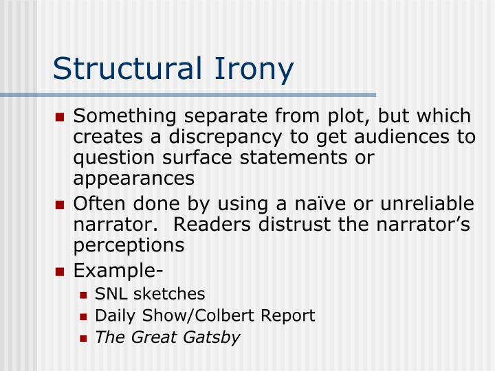 Structural Irony