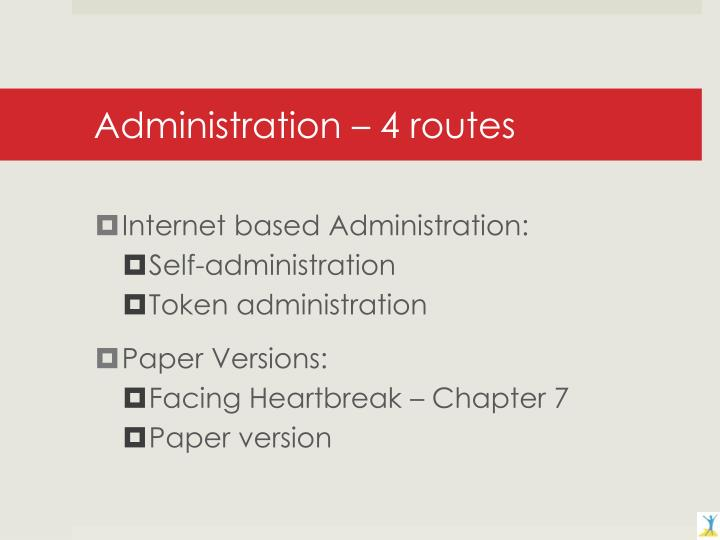 Administration – 4 routes