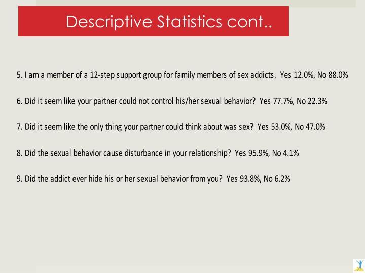 Descriptive Statistics cont..