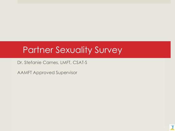 Partner sexuality survey