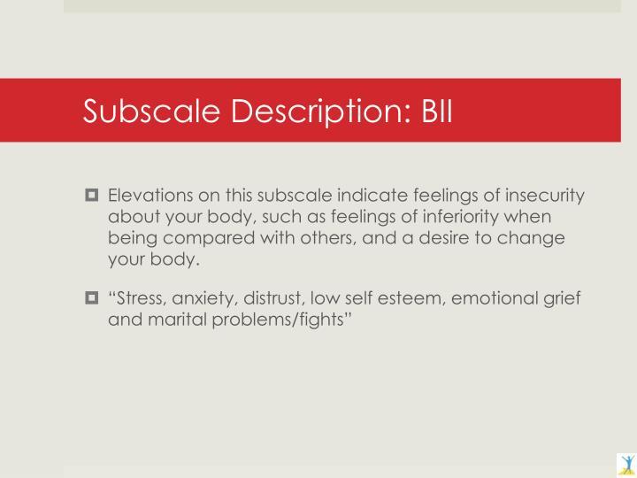 Subscale Description: BII