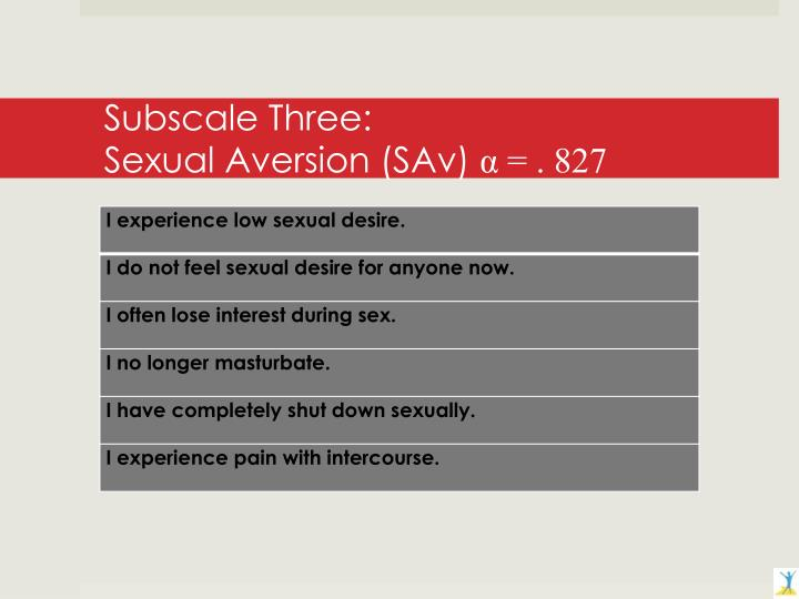 Subscale Three: