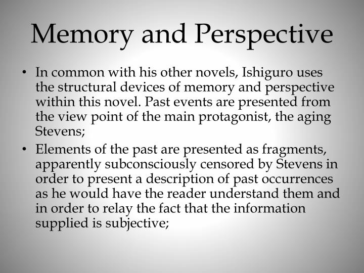 Memory and Perspective