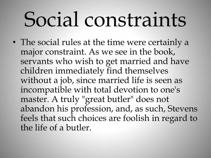 Social constraints