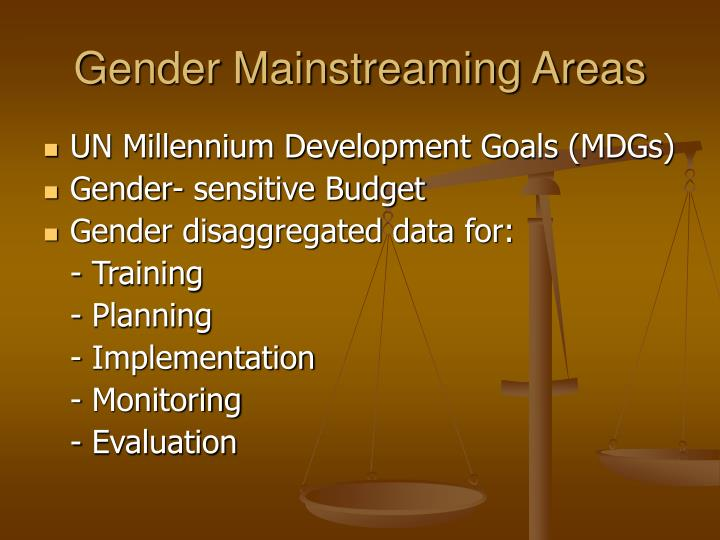 Gender Mainstreaming Areas