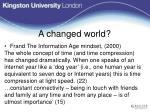 a changed world