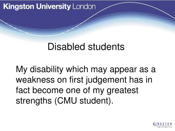 Disabled students