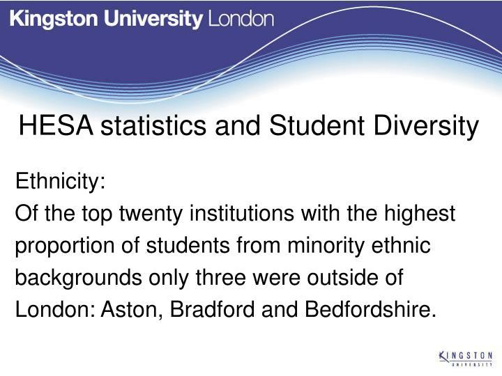 HESA statistics and Student Diversity