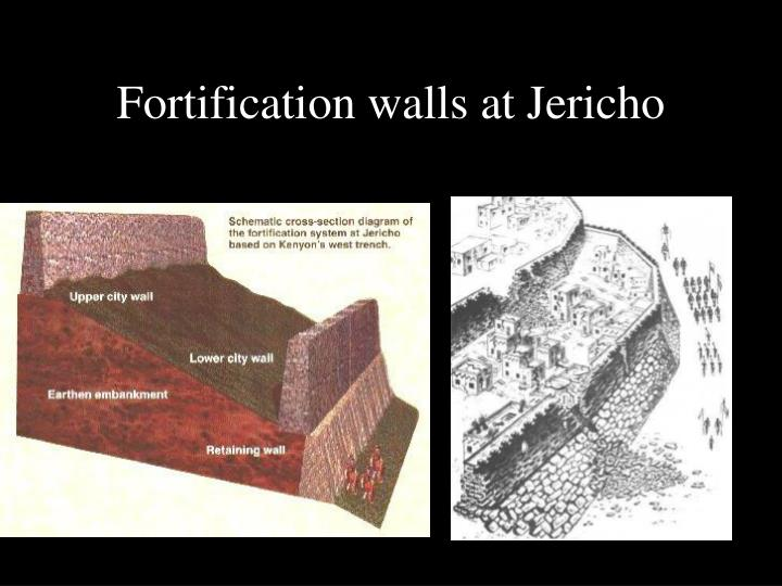 Fortification walls at Jericho