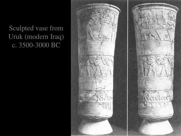 Sculpted vase from Uruk (modern Iraq)