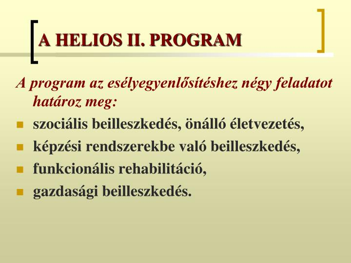 A helios ii program