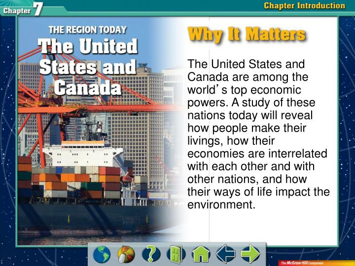 The United States and Canada are among the world